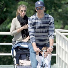 Tom and Gisele Play At The Park With Benjamin