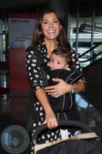 Ali Landry with son Marcelo Monteverde LAX
