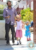 Ben Affleck, Violet Affleck, Seraphina Affleck leaving fashion camp Santa Monica