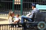 Benjamin brady, Gisele Bundchen visit Boston Park