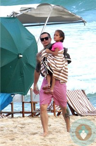 Casper Smart with Emme Anthony in Rio