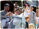 David Beckham, Harper Beckham, Brooklyn Beckham Disneyland