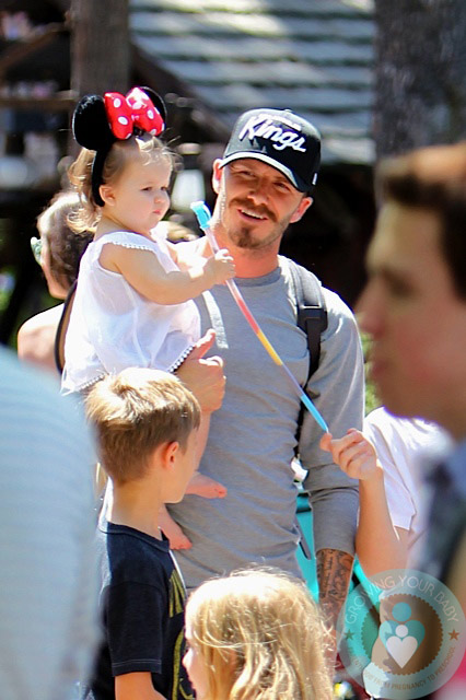 David Beckham, Harper Beckham, Disneyland