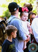 David Beckham, Harper Beckham at Disneyland