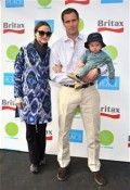 Devon Aoki, James Bailey and son Hunter 2012 Baby Buggy Bedtime Bash