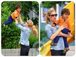 Doutzen Kroes and her son Phyllon Joy Gorre, playground in NYC copy
