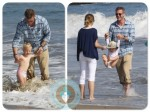 Eric Dane and Rebecca Gayheart Malibu Beach with Billie Beatrice