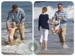 Eric Dane and Rebecca Gayheart Malibu Beach with Billie Beatrice
