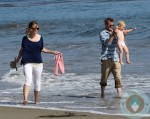 Eric Dane and Rebecca Gayheart, beach, Malibu Billie Beatrice