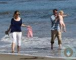 Eric Dane and Rebecca Gayheart, beach, Malibu Billie Beatrice