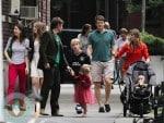 Ethan Hawke with kids Clementine Hawke, Indiana Hawke, Levon Hawke, Maya Hawke