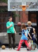 Ethan Hawke with kids Indiana Hawke, Levon Hawke