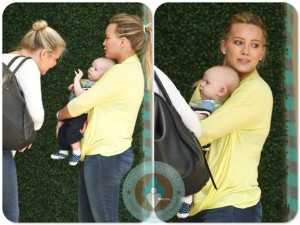 Hilary Duff out shopping Robertson son Luca