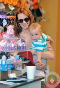 January Jones shopping with son Xander