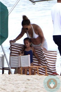 Jennifer Lopez with Emme Anthony in Rio