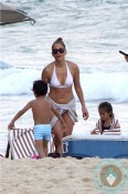 Jennifer Lopez with twins Max and Emme Anthony in Rio