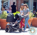 Jillian Michaels, Heidi Rhoades, son Phoenix, daughter Lukensia, LA