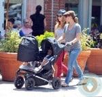 Jillian Michaels, Heidi Rhoades, son Phoenix, daughter Lukensia, LA
