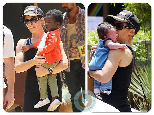Jillian Michaels Hits The Gym With Her Family!