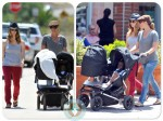Jillian Michaels and Heidi Rhoades with Lukensia, Phoenix,  LA, mountain buggy