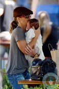 Jillian Michaels with son Phoenix, Malibu
