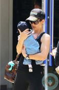 Jillian Michaels with son Phoenix in LA