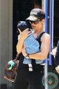 Jillian Michaels with son Phoenix in LA