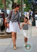 Katie Holmes with daughter Suri NYC