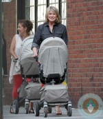 Martha Stewart out for a walk with her grandkids