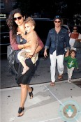 Matthew & Levi McConaughey, Camila Alves and Vida McConaughey in NYC
