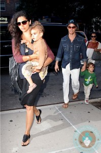Matthew & Levi McConaughey, Camila Alves and Vida McConaughey in NYC