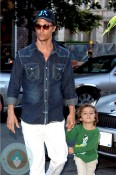Matthew and Levi McConaughey in NYC