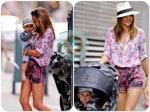 Miranda Kerr, Flynn Bloom stroll NYC