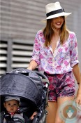 Miranda Kerr with son Flynn Bloom out in NYC