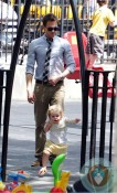 Neil Patrick Harris with daughter Harper at the park