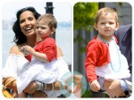 Padma Lakshmi and her daughter Krishna NYC