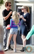 Pregnant Anna Paquin and Stephen Moyer grabbing ice cream LA