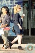 Pregnant Anna Paquin grabbing ice cream