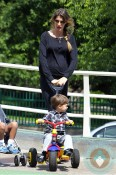 Pregnant Gisele Bundchen with son Benjamin Brady, Boston