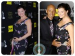 Pregnant Heather Tom and husband James Achor at the 2012 Emmy Awards