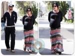 Pregnant Neve Campbell, jj Feild stroll LA copy