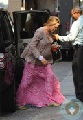 Pregnant Uma Thurman out in NYC 2