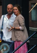 Pregnant Uma Thurman out in NYC