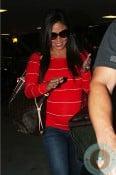 Pregnant Vanessa Minnillo Lachey @ LAX