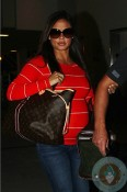 Pregnant Vanessa Minnillo Lachey at LAX
