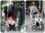 Sarah Jessica Parker and Matthew Broderick twins, Marion, Tabitha, Cybex