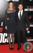 Tom Cruise and Katie Holmes at MI4 premiere