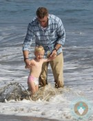 billie beatrice, eric dane, beach malibu