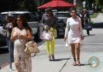 pregnant Kourtney Kardashian, Khloe Kardashian, Kim Kardashian out in LA