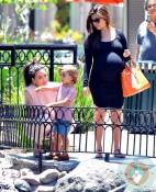 pregnant Kourtney Kardashian, Kim Kardashian, Mason Disick, Out in Calabasas